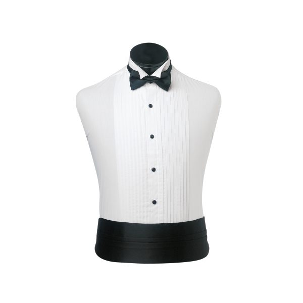 Pleated Wing Collar (Black Buttons)
