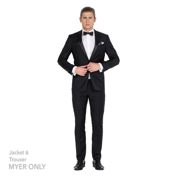DHJK106-01 Tailored Fit Black Jacket