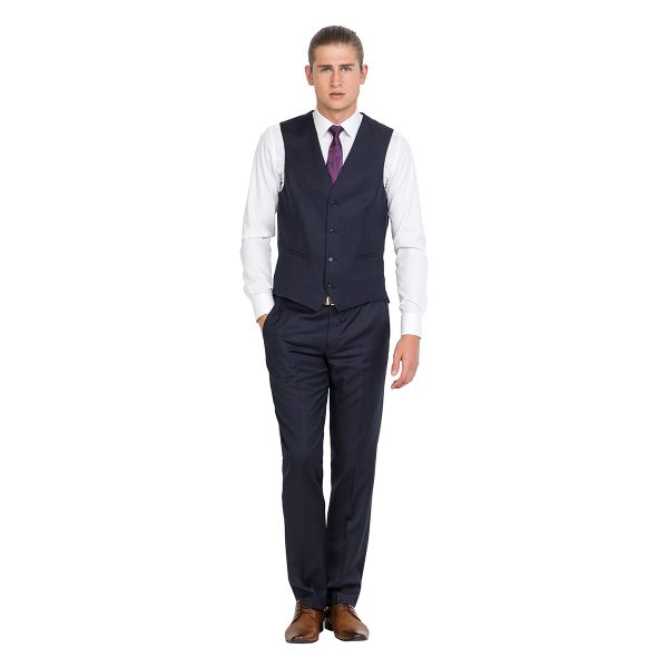 DHV004 Tailored Fit Navy School Ball Lounge Vest