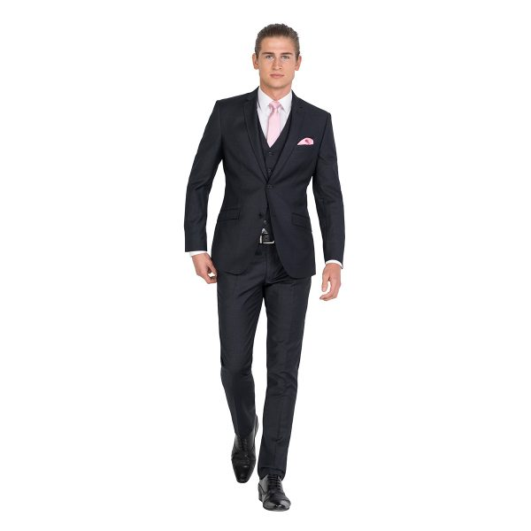 IJK042 Tailored Fit Charcoal School Ball Suit Jacket