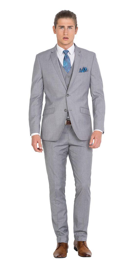 IJK043 Light Grey School Formal Suit Jacket