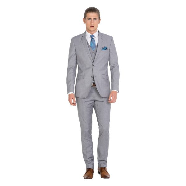 IJK043 Light Grey School Formal Suit Jacket