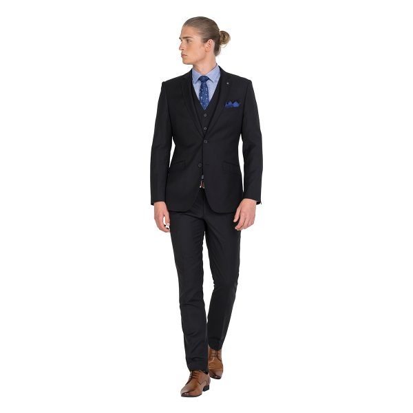 IJK045 Tailored Fit Black Suit