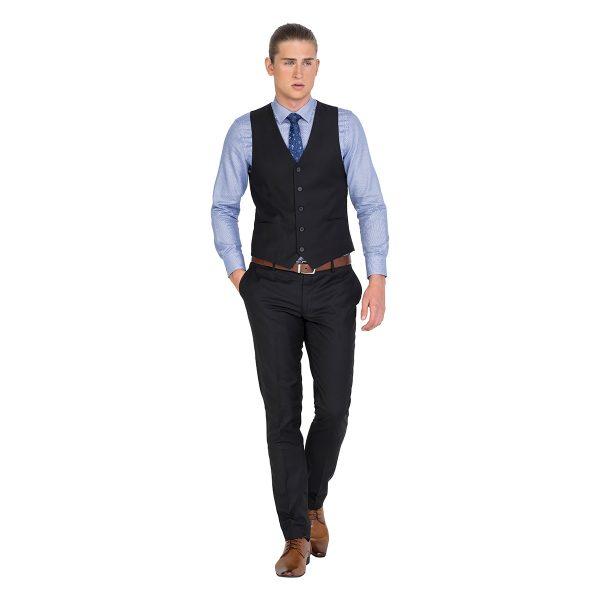 IV045 Formal Black Lounge Vest