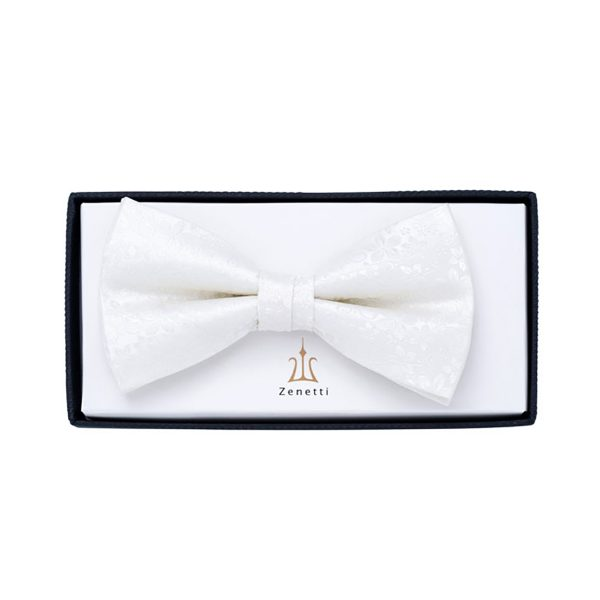 ZBT003 Ivory Formal Bow Tie