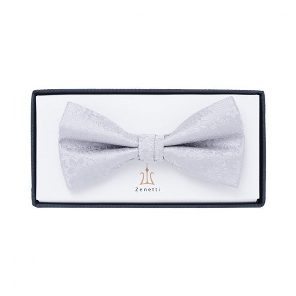 ZBT003 Silver Formal Bow Tie