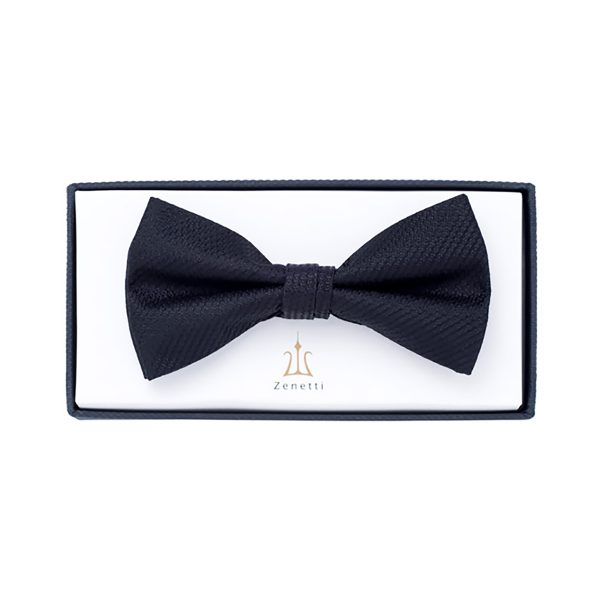ZBT004 Black Bow Tie School Formal
