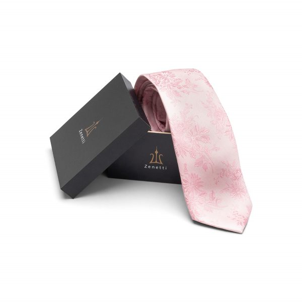 ZTH020 School Formal Pink Tie & Hank Box Set
