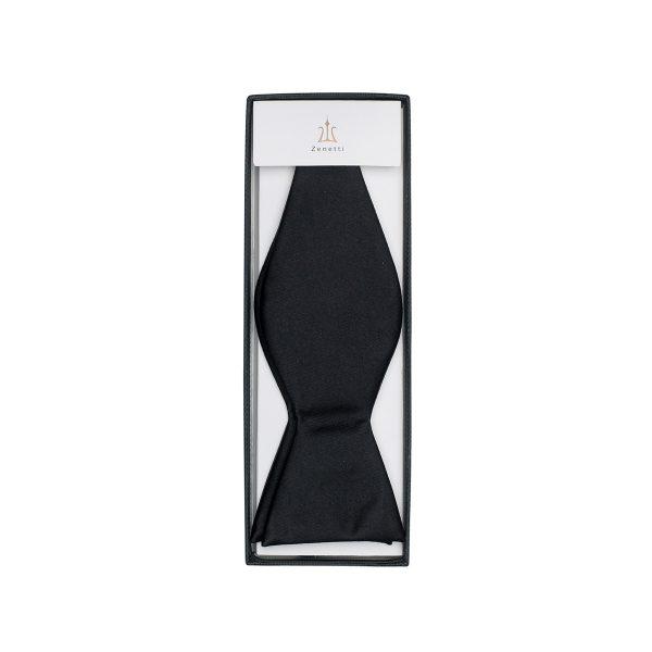 ZTYO001 Black Zenetti Silk Bow Tie School Formal