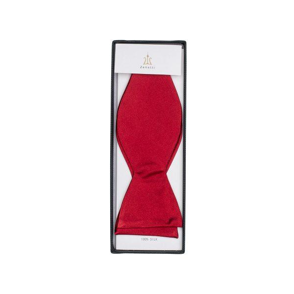 ZTYO001 Red Zenetti Silk Bow Tie School Formal