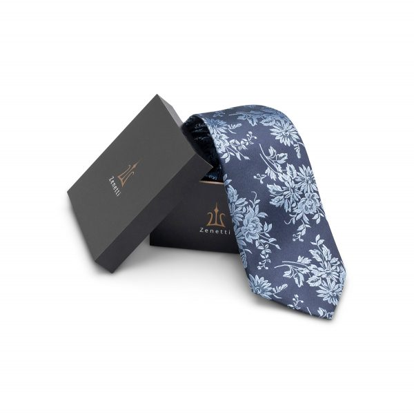 ZTH020 Navy School Ball Tie & Hank Box Set
