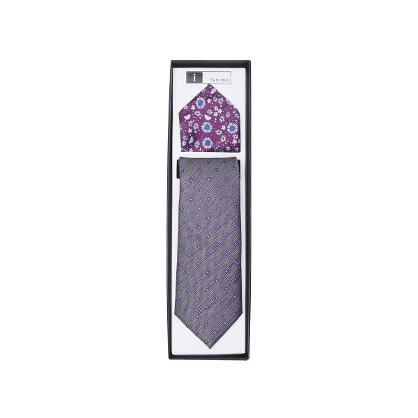 ITH025 Purple Tie & Hank Set