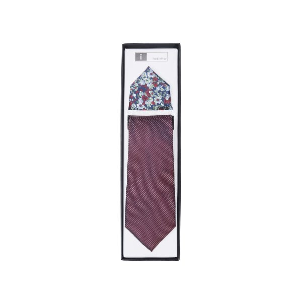 ITH029 Burgundy Tie & Hank Set