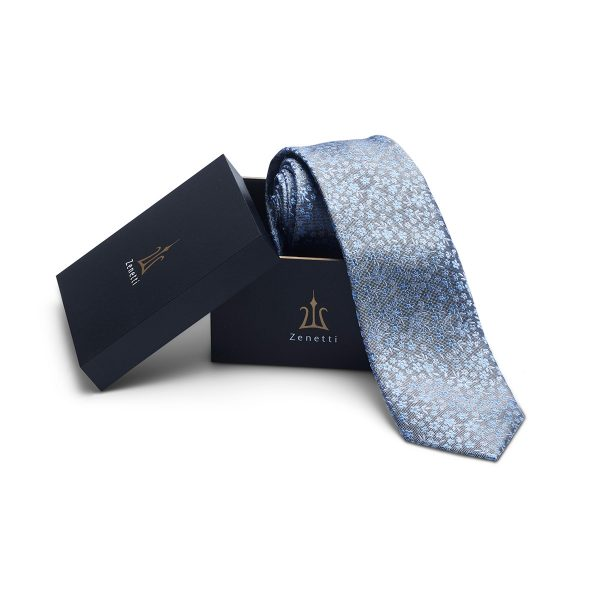 ZTH057 Light Blue Tie and Hank Box Set