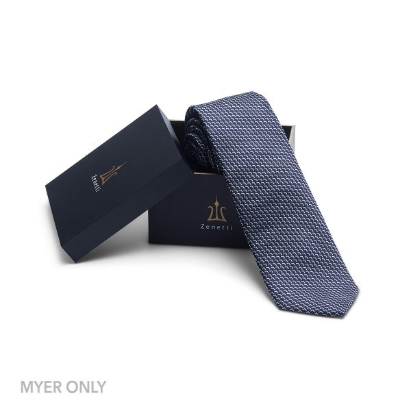 ZTH059 Navy Tie and Hank Box Set