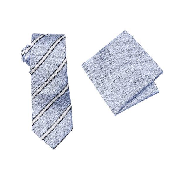 ZTH061 Light Blue Tie and Hank Box Set